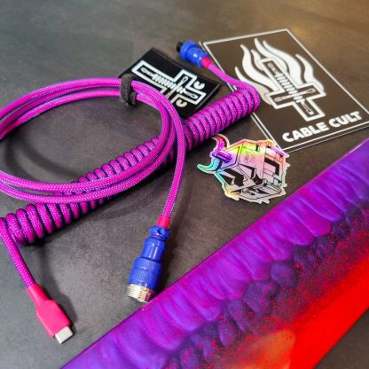 Laser v2 custom gx16 aviator usb-c cable with resin wrist rest