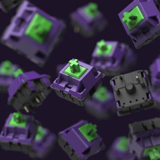 EV-01 Purple and green JWK Linear mechanical keyboard switch