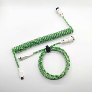 custom green and white aviator usb c cable