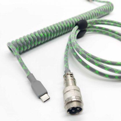 Custom green and grey usb c aviator cable
