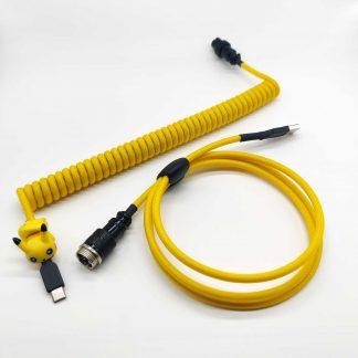 Yellow Pokemon pikachu custom aviator cable usb c